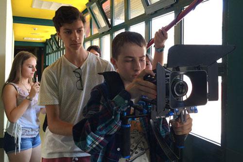 Oscar Dirigiendo un cortometraje