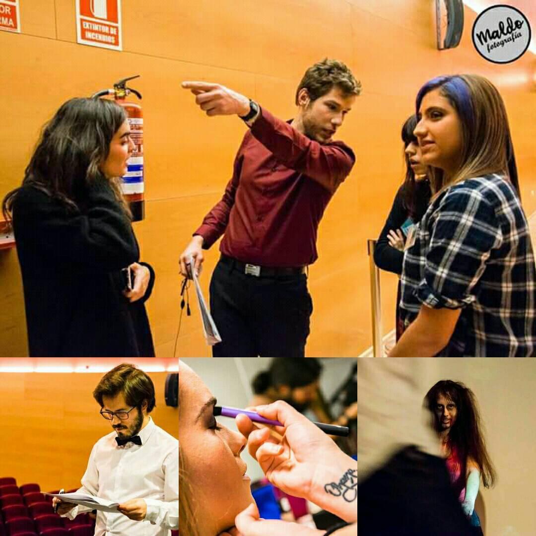 Personal trabajando en laGala de premios the biombo