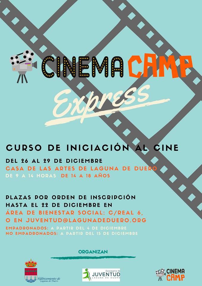 Cartel del Curso de Cine en Laguna de Duero